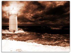 Glasunterlage Abstrakter Leuchtturm im Wasser bei stürmischer See – Bild 1