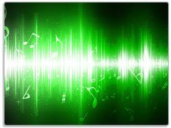 Glasunterlage Grüne Noten der Musik – Bild 1