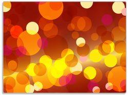 Glasunterlage Rote, gelbe und orange Kreise - harmonisches Muster – Bild 1
