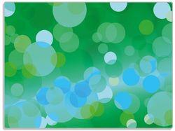 Glasunterlage Grüne und blaue Kreise - harmonisches Muster – Bild 1