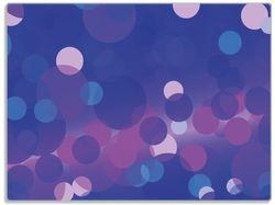 Glasunterlage Blaue Kreise mit pink - harmonisches Muster – Bild 1
