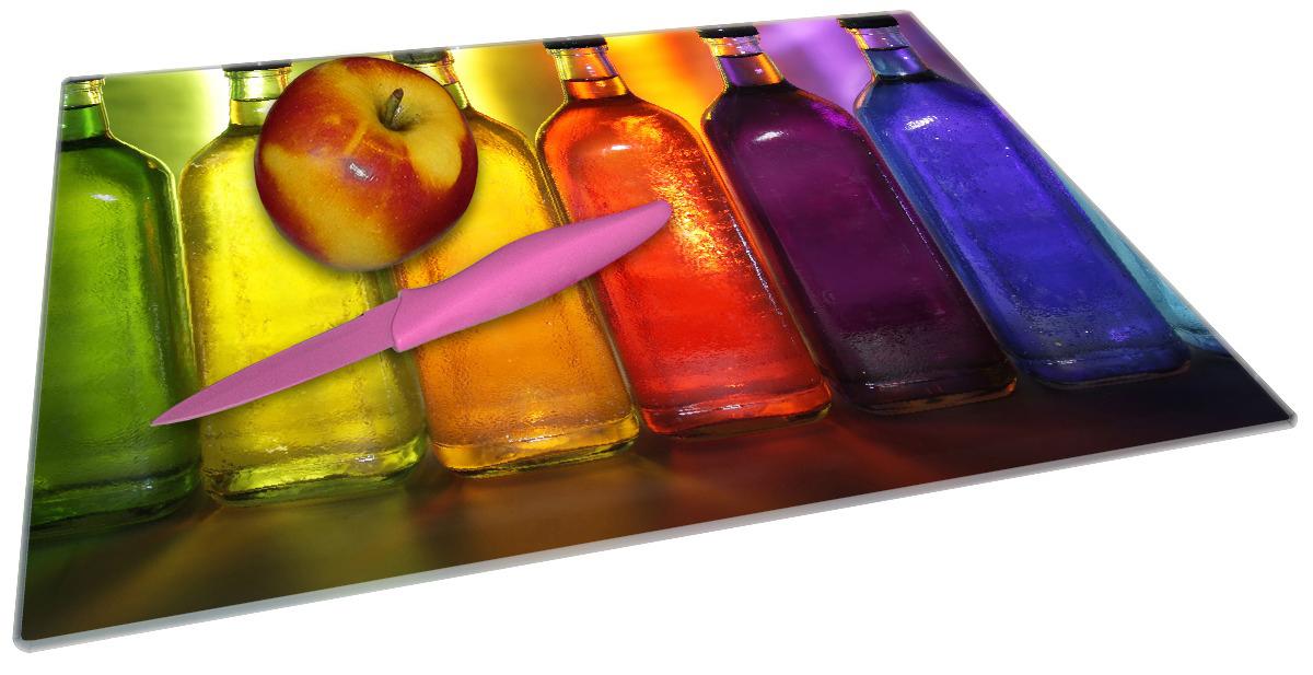 Glasunterlage Bunte Flaschen im Regal – Bild 2