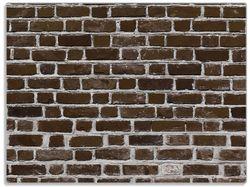 Glasunterlage Ziegelsteinwand in braun - Backsteine – Bild 1