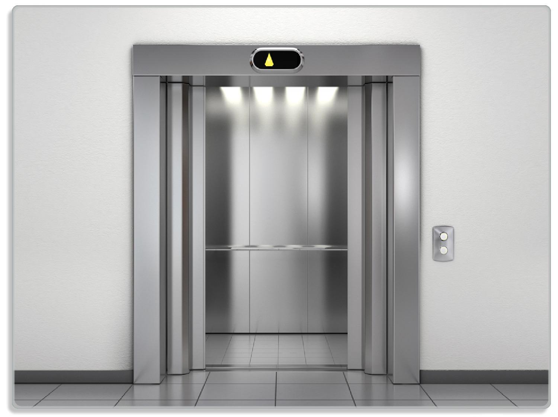 Glasunterlage Fahrstuhl – Bild 1