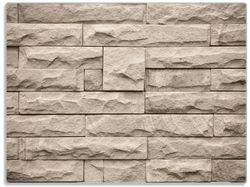 Glasunterlage Steinwand grau-braun – Bild 1
