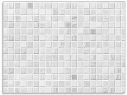 Glasunterlage Fliesen im Bad weiß-grau – Bild 1