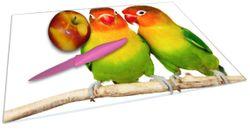 Glasunterlage Papageien auf dem dünnen Ast – Bild 2