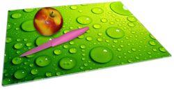 Glasunterlage Wassertropfen auf Grün – Bild 2