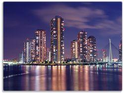 Glasunterlage Tokyo- Skyline bei Nacht – Bild 1