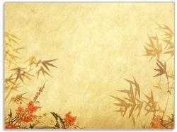 Glasunterlage Herbststimmung – alter Papyrus mit Herbstmotiven – Bild 1