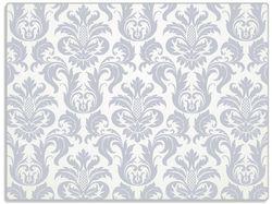 Glasunterlage Königliche Schnörkelei in weiß und blaugrau – Bild 1