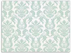 Glasunterlage Königliche Schnörkelei in weiß und grün – Bild 1