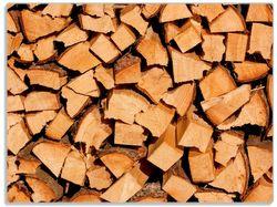 Glasunterlage Holzstapel gehackt - Holzscheite für den Kamin – Bild 1