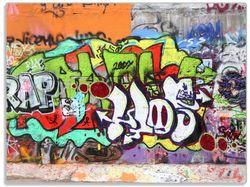 Glasunterlage RAP-Graffiti- Wand mit verschiedenen Tags – Bild 1