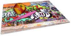Glasunterlage RAP-Graffiti- Wand mit verschiedenen Tags – Bild 2