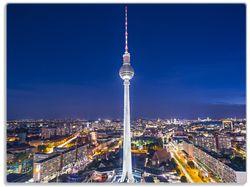 Glasunterlage Fernsehturm Berlin bei Nacht – Bild 1