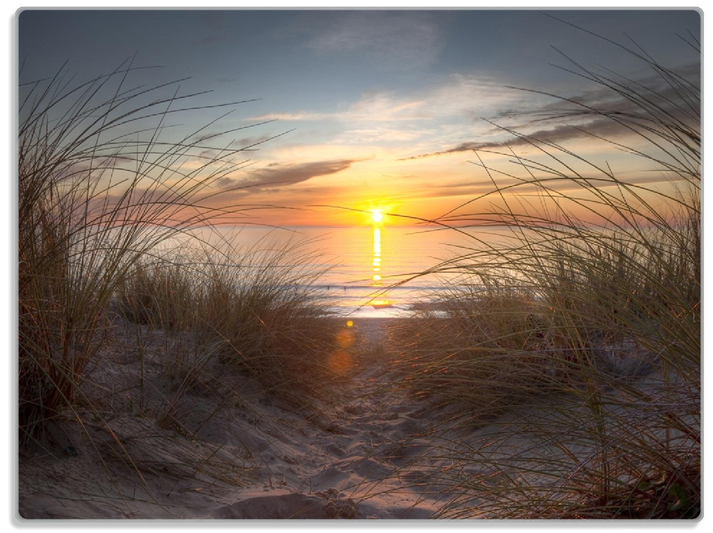 Glasunterlage Sonnenuntergang am Strand – Bild 1
