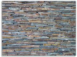 Glasunterlage Natursteinmauer in grau braun – Bild 1