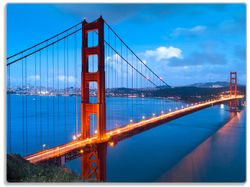 Glasunterlage Golden Gate Bridge in San Francisco, USA – Bild 1