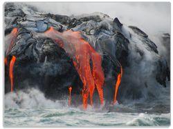 Glasunterlage Lavastrom ins Meer – Bild 1