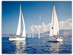 Glasunterlage Segelschiff auf dem Mittelmeer – Bild 1