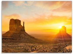 Glasunterlage Monument bei Sonnenuntergang – Bild 1