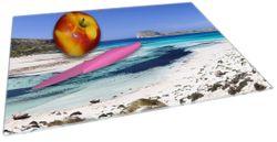 Glasunterlage Einsame Bucht mit weißem Sand und klarem Wasser – Bild 2