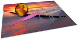 Glasunterlage Farbenspiel im Himmel - Sonnenuntergang am Strand – Bild 2