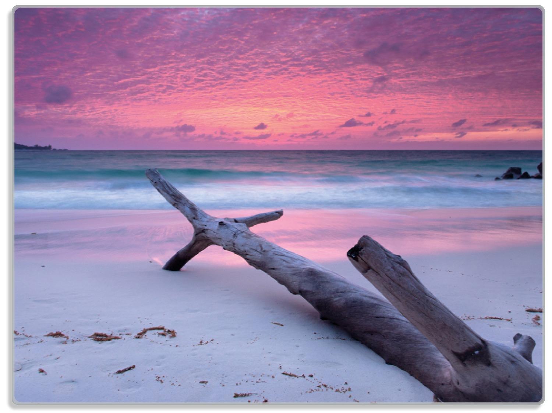Glasunterlage Abendhimmel bei Sonnenuntergang – Bild 1