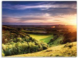 Glasunterlage Farbenfroher Sonnenuntergang in England – Bild 1