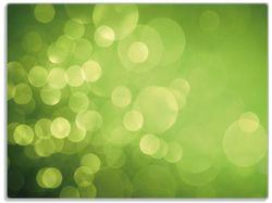 Glasunterlage Abstrakte grüne Kreise, grüne Lichtpunkte – Bild 1