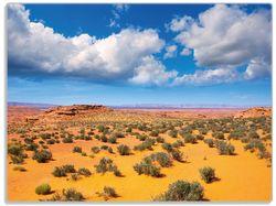 Glasunterlage Wüste in Arizona - blauer Himmel mit Wolken I – Bild 1
