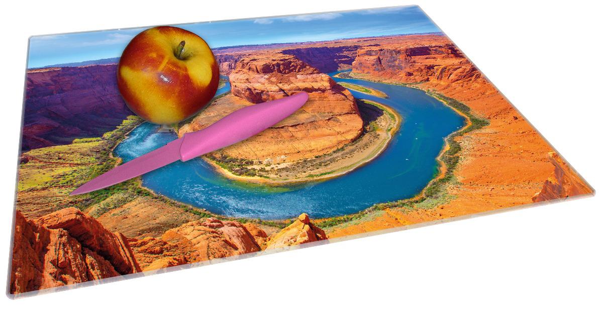 Glasunterlage Hufeisenförmiger Mäander des Colorado River – Bild 2