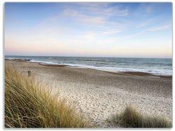 Glasunterlage Strandspaziergang im Urlaub an der Ostsee – Bild 1