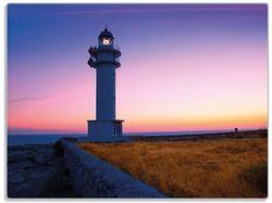 Glasunterlage Leuchtturm am Abend auf den Balearen – Malerischer Himmel – Bild 1