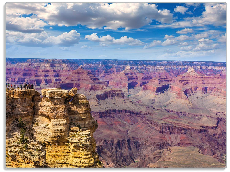 Glasunterlage Felsenschlucht im Grand Canyon Park Arizona – Bild 1
