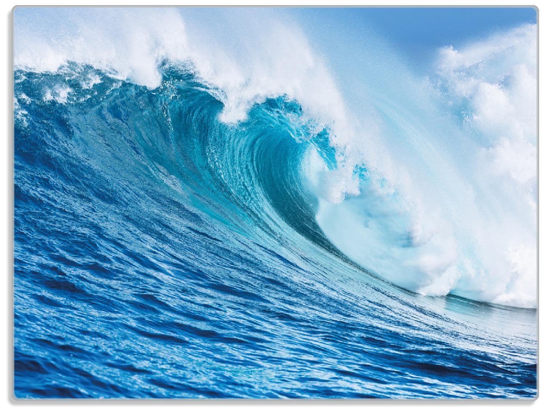 Glasunterlage Eindrucksvolle Welle im Ozean – Bild 1