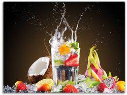 Glasunterlage Tropische Früchte in einem erfrischenden Drink – Bild 1