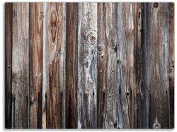 Glasunterlage Alte Holzwand - Holzplanken in grau und braun – Bild 1