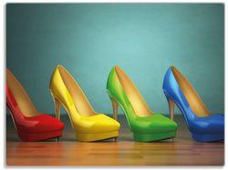 Glasunterlage Bunte Schuhe - High Heels für Frauen – Bild 1