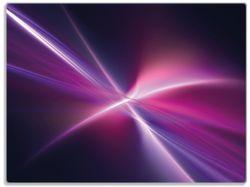 Glasunterlage Abstrakte Formen und Linien, schwarz lila pink weiß – Bild 1