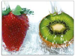 Glasunterlage Frische Früchte übergossen mit Wasser II – Bild 1