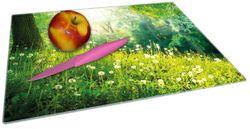 Glasunterlage Pusteblumen im Wald mit einfallenden Sonnenstrahlen – Bild 2