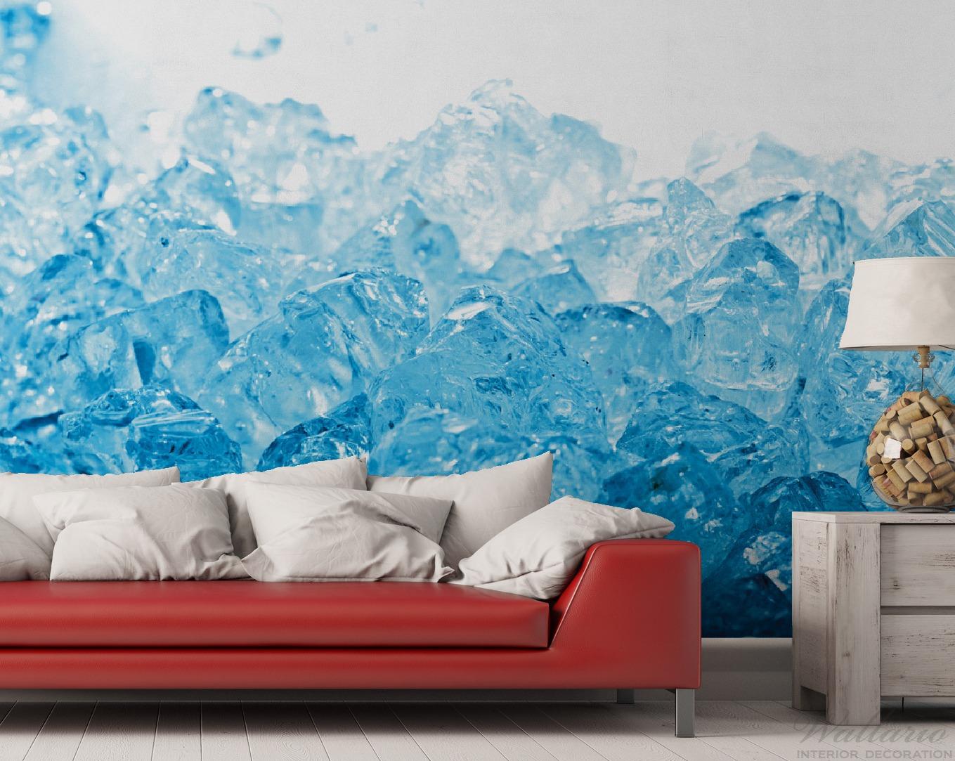 Vliestapete Leuchtendes Eis in blau – Bild 2