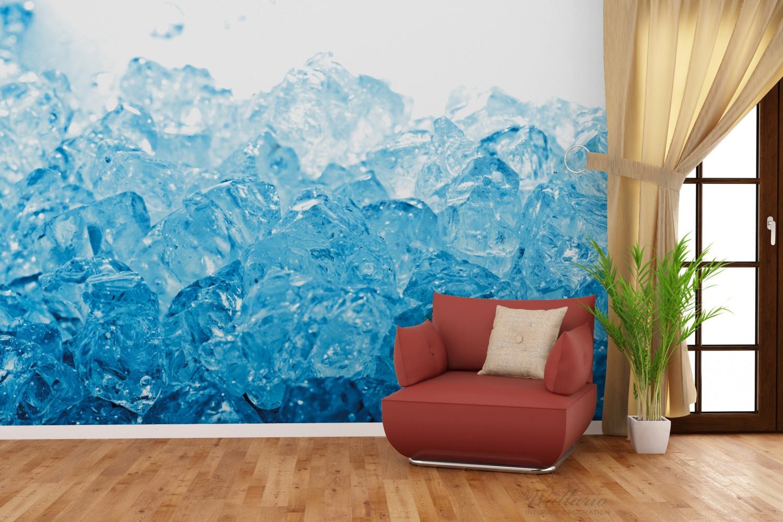 Vliestapete Leuchtendes Eis in blau – Bild 4