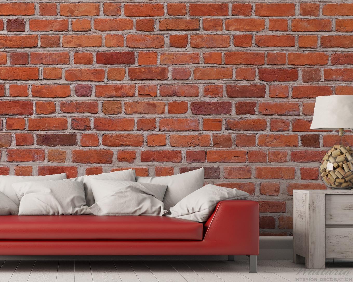 Vliestapete Rote Ziegelsteinwand - Backsteine – Bild 2