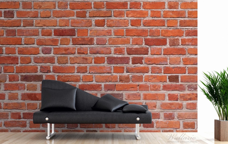 Vliestapete Rote Ziegelsteinwand - Backsteine – Bild 3