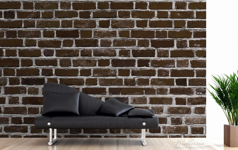 Vliestapete Ziegelsteinwand in braun - Backsteine – Bild 3