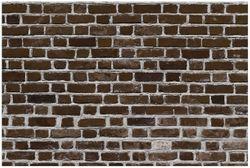 Vliestapete Ziegelsteinwand in braun - Backsteine – Bild 1