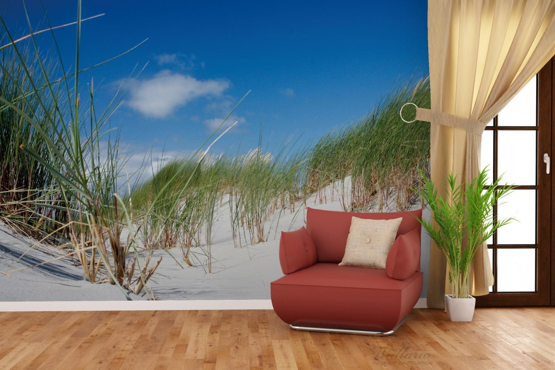 Vliestapete Düne am Strand unter blauem Himmel – Bild 4